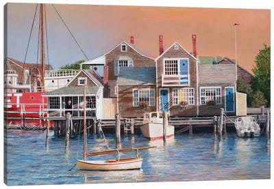 Harbor Sunrise by Tom Mielko Canvas Art Print