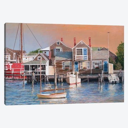 Harbor Sunrise Canvas Print #TMI22} by Tom Mielko Canvas Print