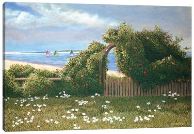 Island Trelli by Tom Mielko Canvas Art Print