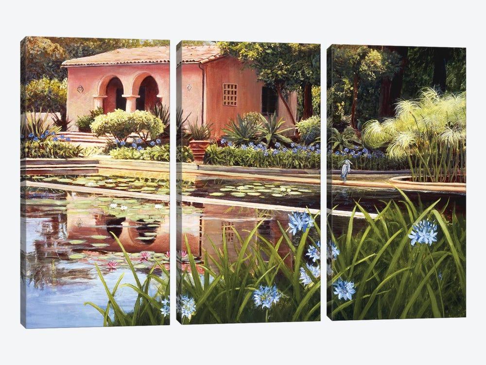 Lotus Land by Tom Mielko 3-piece Canvas Print