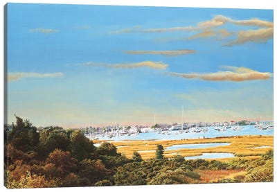 Nantucket Marina Canvas Art Print