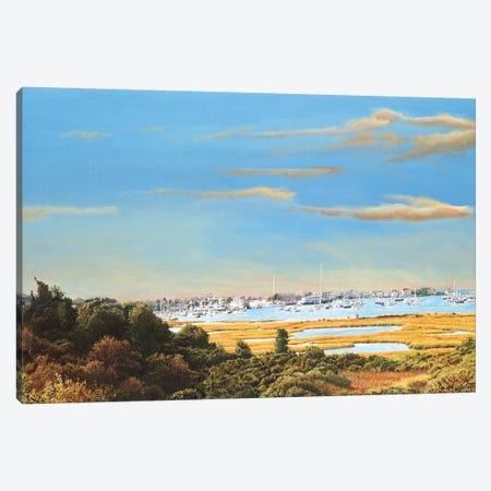 Nantucket Marina Canvas Print #TMI30} by Tom Mielko Canvas Art