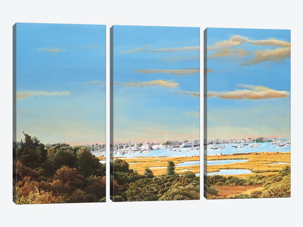Nantucket Marina by Tom Mielko 3-piece Canvas Wall Art