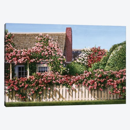 Nantucket Roses Canvas Print #TMI31} by Tom Mielko Canvas Art