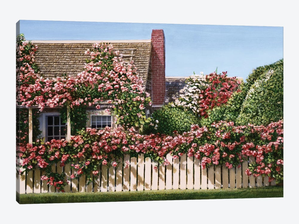 Nantucket Roses by Tom Mielko 1-piece Canvas Print