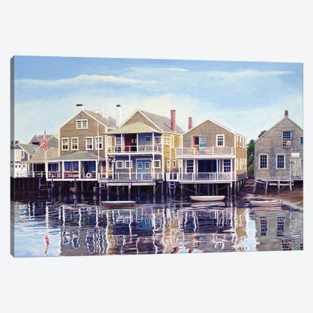 North Wharf Canvas Print #TMI34} by Tom Mielko Canvas Print