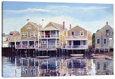 North Wharf by Tom Mielko Canvas Art Print