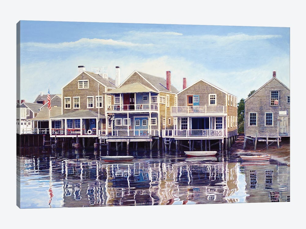 North Wharf by Tom Mielko 1-piece Canvas Wall Art