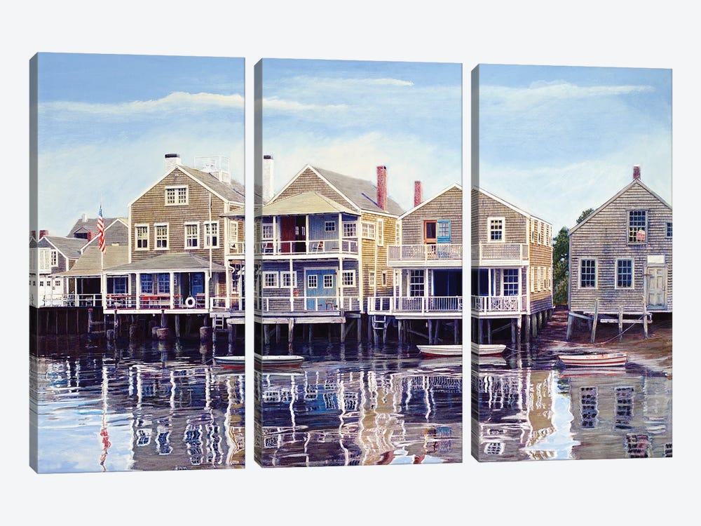 North Wharf by Tom Mielko 3-piece Canvas Art