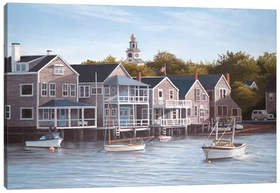 North Wharf Light Canvas Art Print