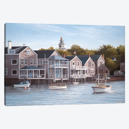North Wharf Light Canvas Print #TMI35} by Tom Mielko Canvas Print