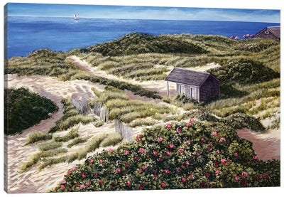 Steps Beach Canvas Art Print