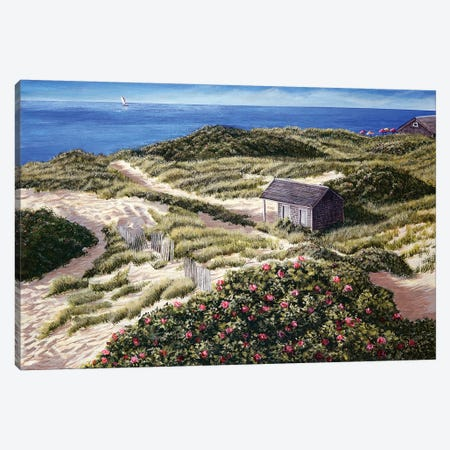 Steps Beach Canvas Print #TMI43} by Tom Mielko Canvas Print