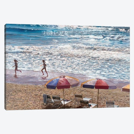 Summer Splash 3-Piece Canvas #TMI48} by Tom Mielko Canvas Art Print