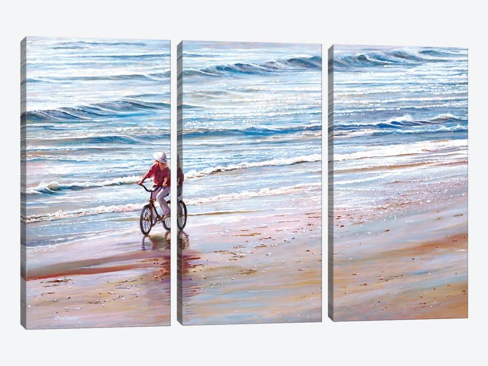 Ashley Beach by Tom Mielko 3-piece Canvas Print