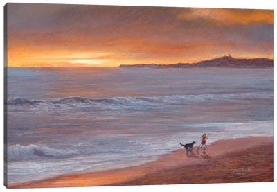 Sunset by Tom Mielko Canvas Art Print