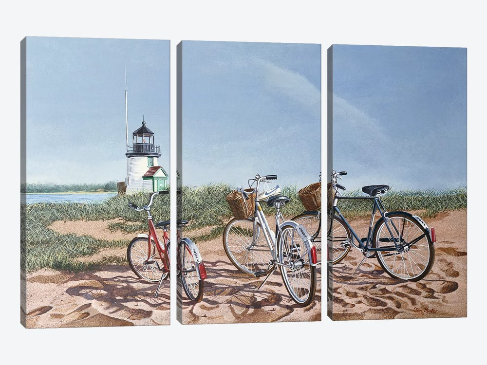 Weekend Outing by Tom Mielko 3-piece Canvas Art Print