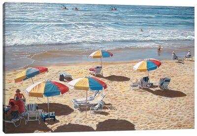 Beach Umbrellas II Canvas Art Print
