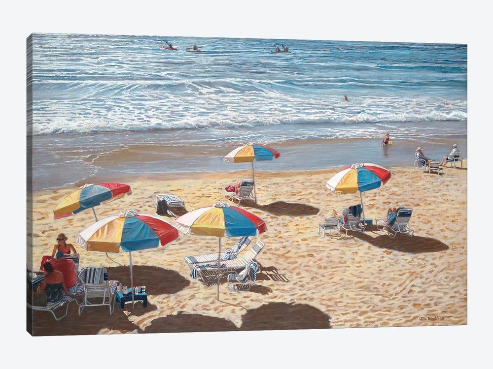 Beach Umbrellas II by Tom Mielko 1-piece Canvas Wall Art