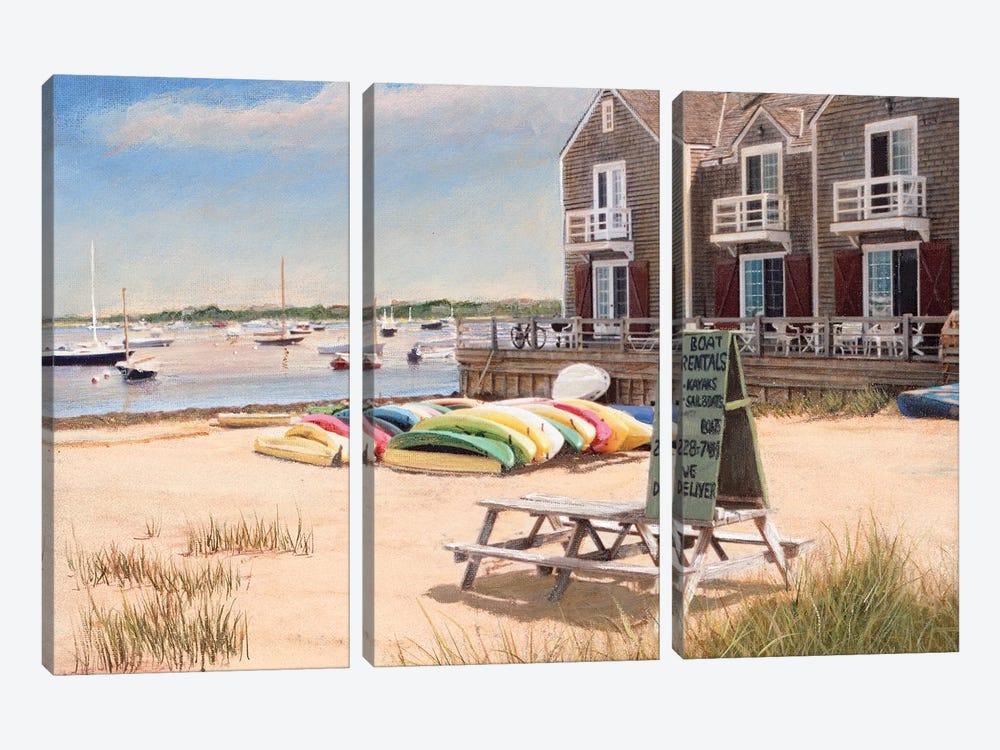 Boat Rentals by Tom Mielko 3-piece Canvas Print