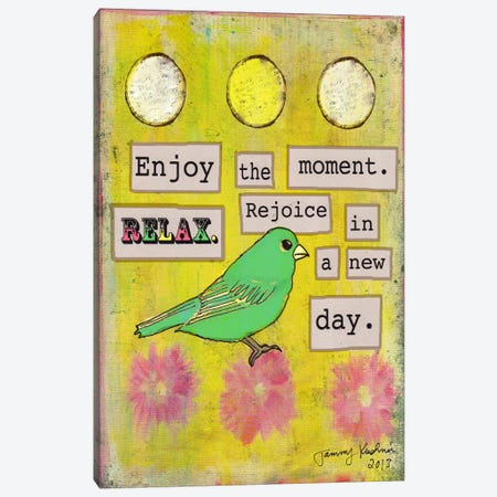 Enjoy the Moment Canvas Print #TMK10} by Tammy Kushnir Canvas Art