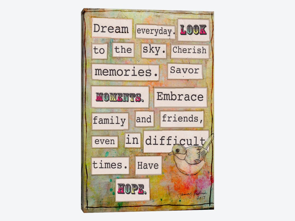 Dream Everyday by Tammy Kushnir 1-piece Canvas Wall Art