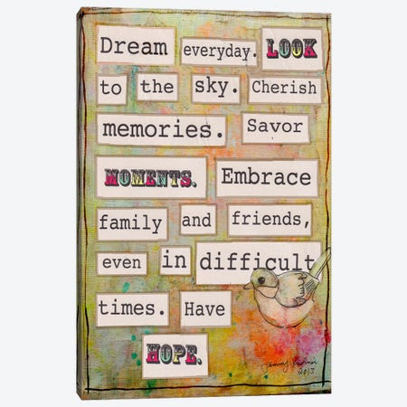 Dream Everyday Canvas Print #TMK11} by Tammy Kushnir Canvas Wall Art