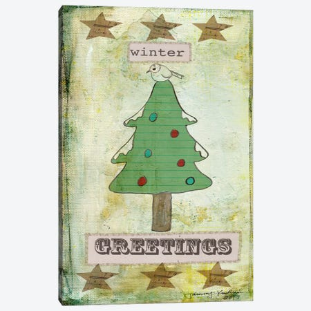 Winter Greetings Canvas Print #TMK12} by Tammy Kushnir Canvas Art