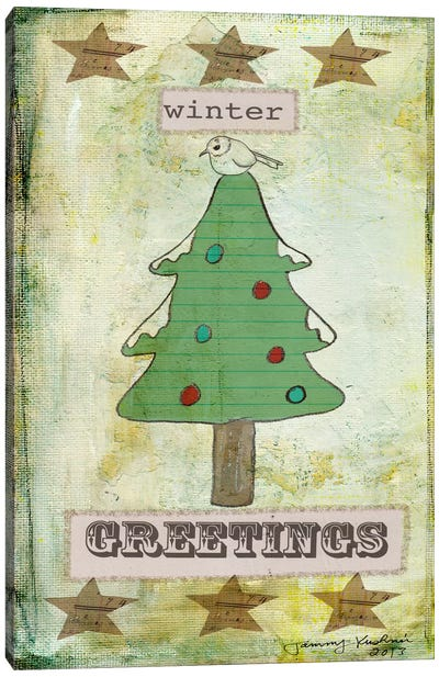 Winter Greetings Canvas Art Print