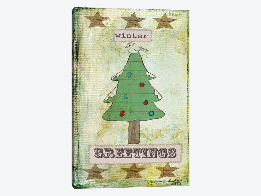 Winter Greetings by Tammy Kushnir 1-piece Canvas Art Print