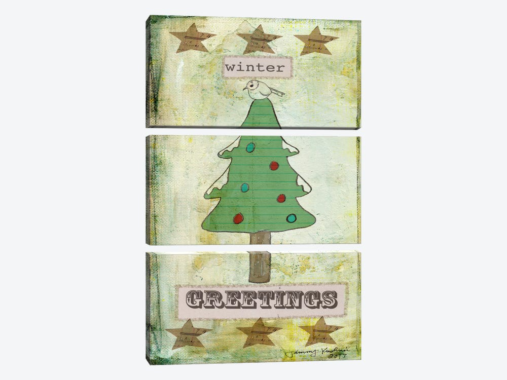 Winter Greetings by Tammy Kushnir 3-piece Art Print