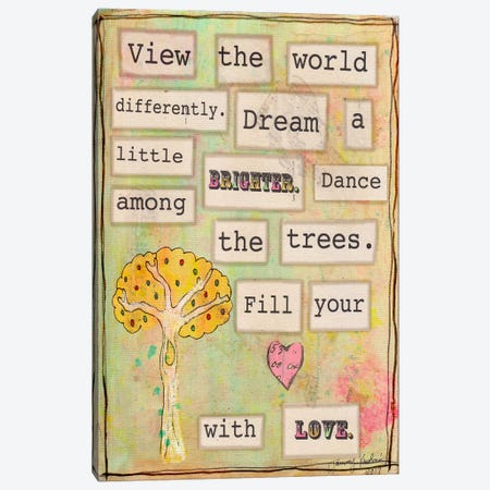 View the World Canvas Print #TMK13} by Tammy Kushnir Canvas Artwork