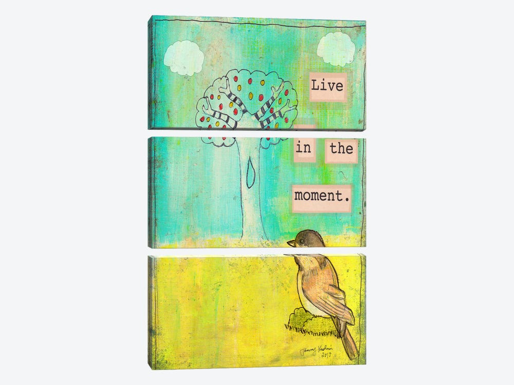 Live In The Moment by Tammy Kushnir 3-piece Canvas Art