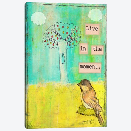 Live In The Moment Canvas Print #TMK17} by Tammy Kushnir Canvas Print