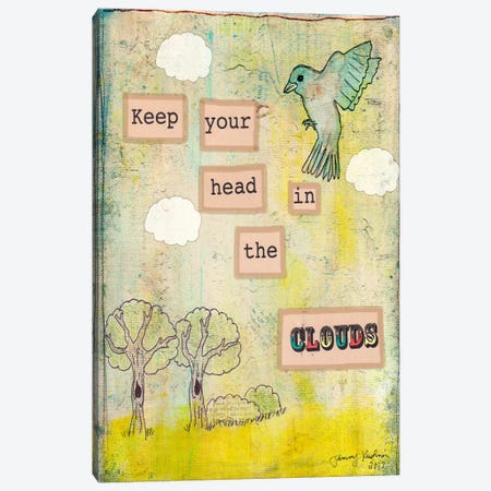 Keep Your Head In The Clouds Canvas Print #TMK18} by Tammy Kushnir Canvas Artwork