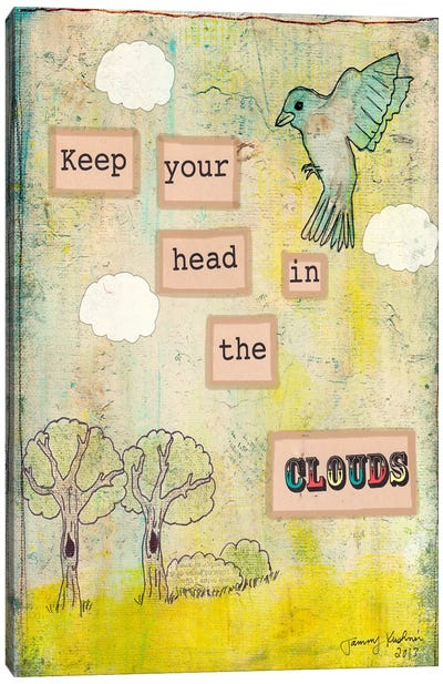 Keep Your Head In The Clouds Canvas Art Print