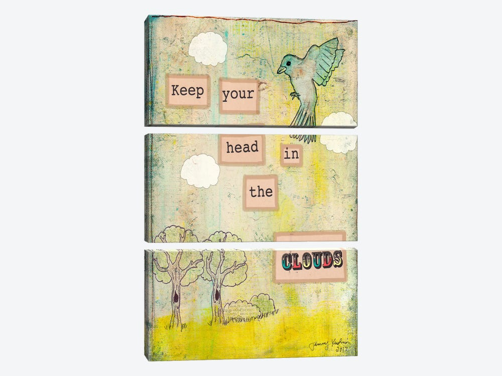 Keep Your Head In The Clouds by Tammy Kushnir 3-piece Canvas Art Print