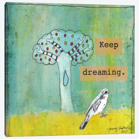 Keep Dreaming Canvas Print #TMK19} by Tammy Kushnir Canvas Art