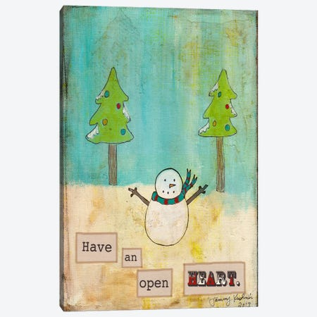 Have An Open Heart Canvas Print #TMK20} by Tammy Kushnir Canvas Art Print