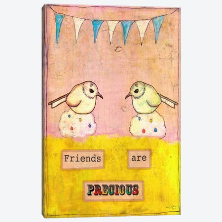 Friends Are Precious Canvas Print #TMK21} by Tammy Kushnir Art Print