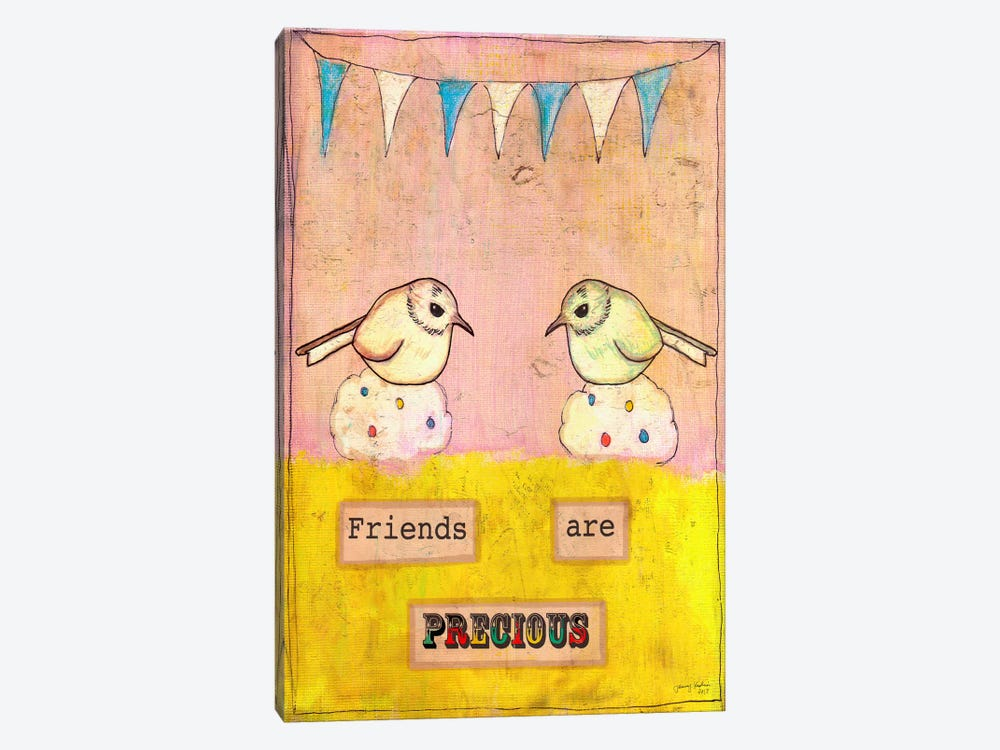 Friends Are Precious by Tammy Kushnir 1-piece Canvas Art Print