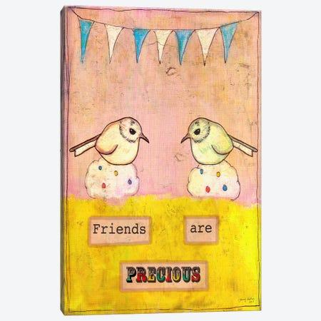 Friends Are Precious Canvas Print #TMK21} by Tammy Kushnir Art Print