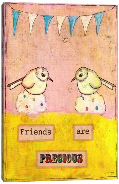 Friends Are Precious Canvas Art Print
