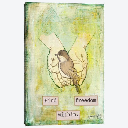 Find Freedom Within Canvas Print #TMK23} by Tammy Kushnir Canvas Art Print