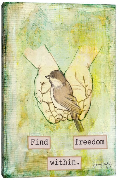 Find Freedom Within Canvas Art Print