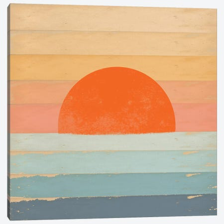 Sunrise Over The Sea Canvas Print #TMK44} by Tammy Kushnir Canvas Artwork