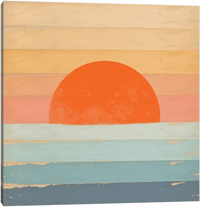 Sunrise Over The Sea Canvas Art Print