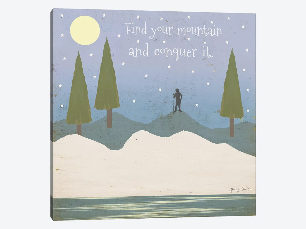 Find Your Mountain 1-piece Canvas Print