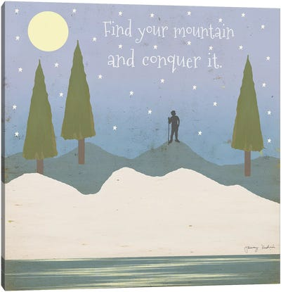 Find Your Mountain Canvas Art Print