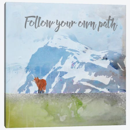 Follow Your Own Path Canvas Print #TMK51} by Tammy Kushnir Canvas Artwork